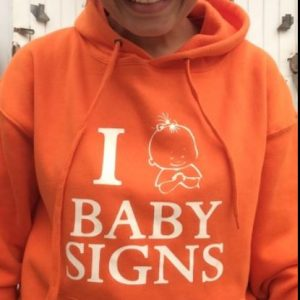 "Sweat-shirt ""I Love Baby Signs"" Adulto"