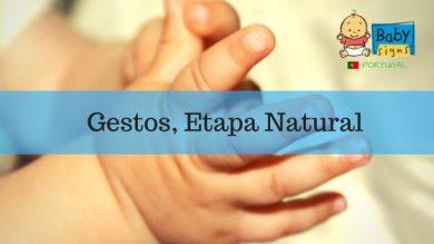 Os gestos como Etapa Natural no Desenvolvimento Infantil