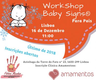 WS Baby Signs® para Pais – Lisboa (o último de 2018)